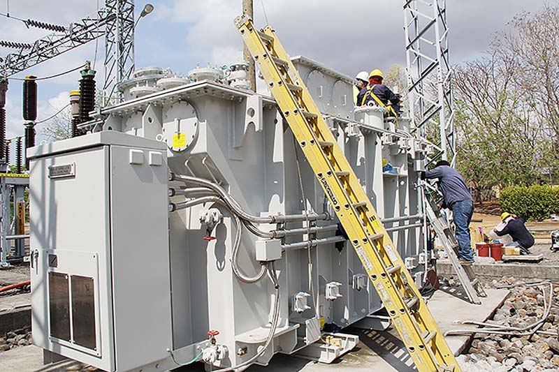 Montaje y puesta en servicio de transformadores de potencia y media tensión